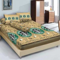 Sprei Starbucks Coffee Kintakun uk King/Queen Bahan Katun Microtex