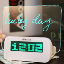[Sugu] Highstar Digital Alarm Clock 4 Port USB HUB Memo Board Jam LED / Belanja Hemat Free Ongkir
