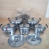 Panci set Kukus Weston / Weston Dutch Oven Steamer Set [1 set terdiri dari 5 pcs ]