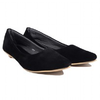 Dr.Kevin Women Flat Shoes Asoka Flower 43212 Black