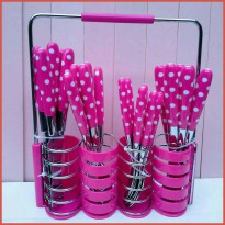 Sendok Set WESTON Warna Polkadot 24 set