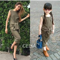 OLIVE GREEN JUMPSUIT AVAILABLE MOM & KIDS - FOR KIDS ORIGINAL IMPORT