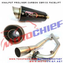 Knalpot Proliner CBR150 K45G Facelift Carbon Short