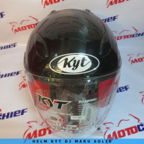 Helm Kyt Dj Maru Solid Black Metalik