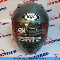 Helm Kyt Rc 7 Solid All Grey