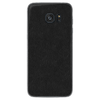 EXACOAT SAMSUNG GALAXY S7 EDGE SKIN / GARSKIN LEATHER BLACK