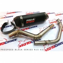 Knalpot Prospeed Black Series R15 New/ V3