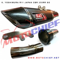 Knalpot Yoshimura Japan R11 CBR250RR Slip On