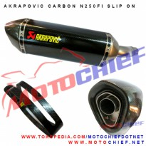 Knalpot Akrapovic Ninja 250Fi Original Carbon Slip on