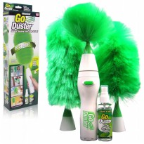 Go Duster Cleaner Kemoceng Putar Elektrik - Free Multi Surface Spray Dan Mini Head