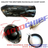 Knalpot Two Brothers Black Carbon Short N250FI Slip On