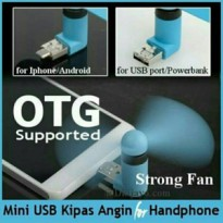 Kipas Angin Handphone Fan Usb 2 in 1