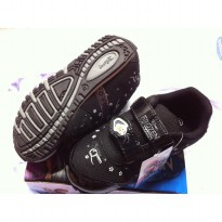 Sepatu Anak - Disney Frozen Snow Queen - Black Grey (Sz 26-30)