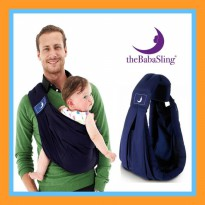 Gendongan bayi samping the baba sling classic 5 in 1 import warna navy