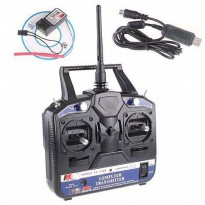 Flysky FS-CT6B 6CH Transmitter + Receiver System untuk RC Helicopter