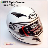 Helm KYT Alpha Venom Solid White