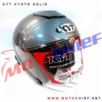 Helm KYT Kyoto Solid All Grey