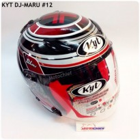 Helm KYT DJ Maru Sticker 12 Black/Red