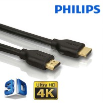 Philips Kabel HDMI 1.4 Ultra HD 4K 2160p and 3D support 1.8meter gold plated