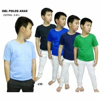OBLONG POLOS O NECK ANAK UNISEX - COTTON SIMPLE T SHIRT