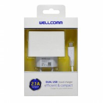 Travel Charger Dual USB 2.1A Output Wellcomm