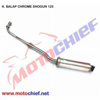 Knalpot Balap Chrome Shogun 125