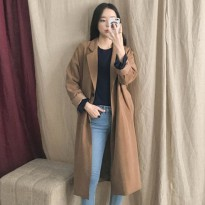 [WhiteFox] Daily to button single long jacket ship from korean fashion style