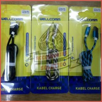 KABEL DATA WELLCOMM 2 IN 1 | FAST CHARGING IPHONE - ANDROID