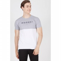 [ BERRYBENKA ] Men London Tshirt White Grey