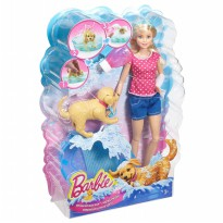 Barbie Splish Splash Pup Playset (Blonde)