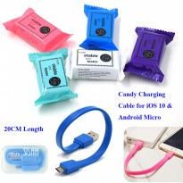 kabel micro powerbank candy - cable mini micro powerbank - kabel powerbank 20cm