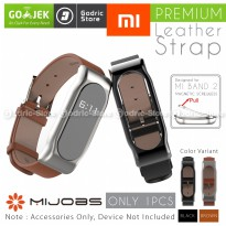 MIJOBS Leather Strap Magnetic Shell for Xiaomi Mi Band 2 OLED Original