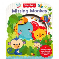 [Hellopandabooks] Fisher Price Missing Monkey board book A hide-and-seek peep-through window story b