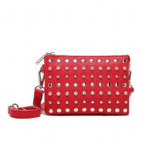 CH4RMING CHARLIE - USA Brand! Red Studded Sling Bag
