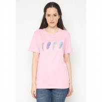 Mobile Power Ladies Embroidery T-shirt - Pink AG106