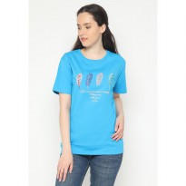 Mobile Power Ladies Embroidery T-shirt - Blue AG107