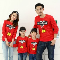 Sweater Family Couple 2 anak | Baju Sweater Keluarga | Baju Lengan Panjang Kapel BFPK AT19