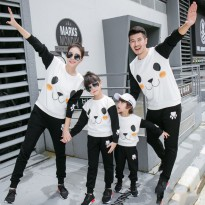 Sweater Family Couple 2 anak | Baju Sweater Keluarga | Baju Lengan Panjang Kapel BFPK AS95