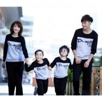 Sweater Family Couple 2 anak | Baju Sweater Keluarga | Baju Lengan Panjang Couple BFPK AS94