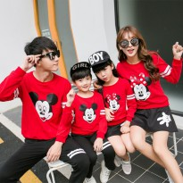Sweater Family Couple 2 anak | Baju Sweater Keluarga | Baju Lengan Panjang Kapel BFPK AT17
