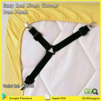 Pengait Sudut Sprei - Easy Bed Linen Corner Iron Hook