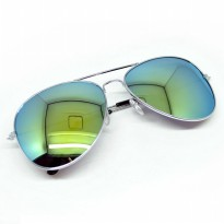Polarized Ray Vintage Women and Man Outdoor Sunglasses - Silver/Gold