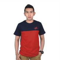 Catenzo |Jual Kaos Distro / T-Shirt Pria - PS 151 | Bahan : COTTON | Warna : BIRU MERAH