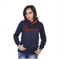 Catenzo |Jual Jaket / Sweater Hoodir Couple Wanita - PL 436 | Bahan : FLEECE | Warna : BIRU NAVY