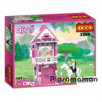 Cogo Girls 3269 - Mainan Cogo Anak 167Pcs - Ages 6+