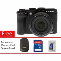 Kamera Digital Canon PowerShot G3 X Wi-Fi and NFC Paket lengkap