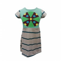 Andri Collection - Dress Anak Max - Green Knit 3-4yr