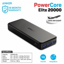 PowerBank Anker PowerCore Elite 20000mAh A1273 Black