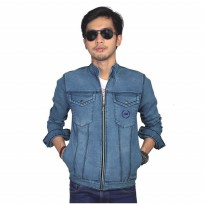 Catenzo |Jual Jaket Pria Denim Jeans Couple - BE 054 | Bahan : DENIM | Warna : BIRU