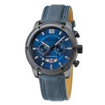 Guy Laroche - G3010-02 Jam Tangan Pria - Leather strap - Biru